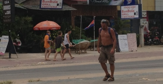 A few travelers here in Sihanoukville, Cambodia.