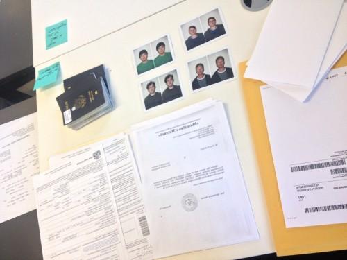 Visa prep work