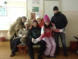 A Sledding expedition in Tomsk.