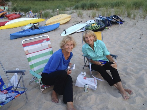 Mom (left) and Mary in one of their favorite places.