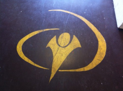 YWAM trademark on the basement floor at the Go-Center here in Kona