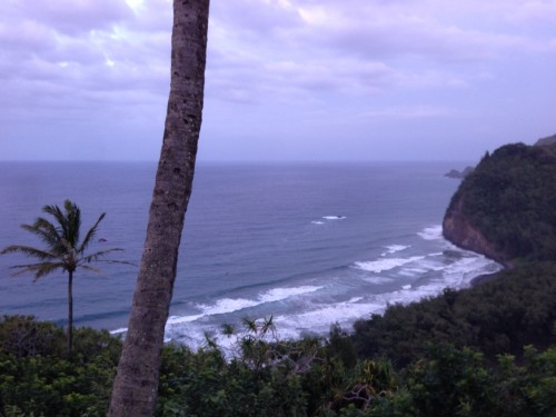 Pololu Valley from the top