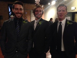 Joe, Jeremy, and I post wedding