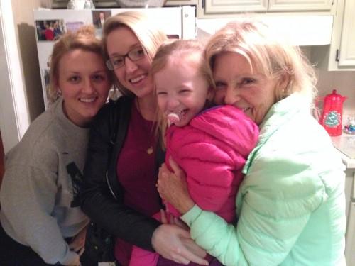 Sisters-Louisa and Birgitta, Niece-Emerald, and Mom.